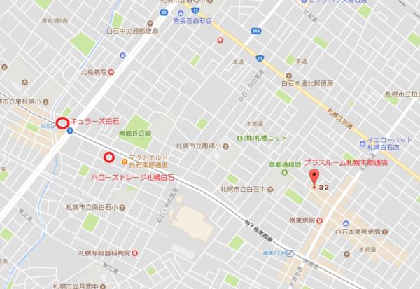 トランクルーム札幌本郷通店地図